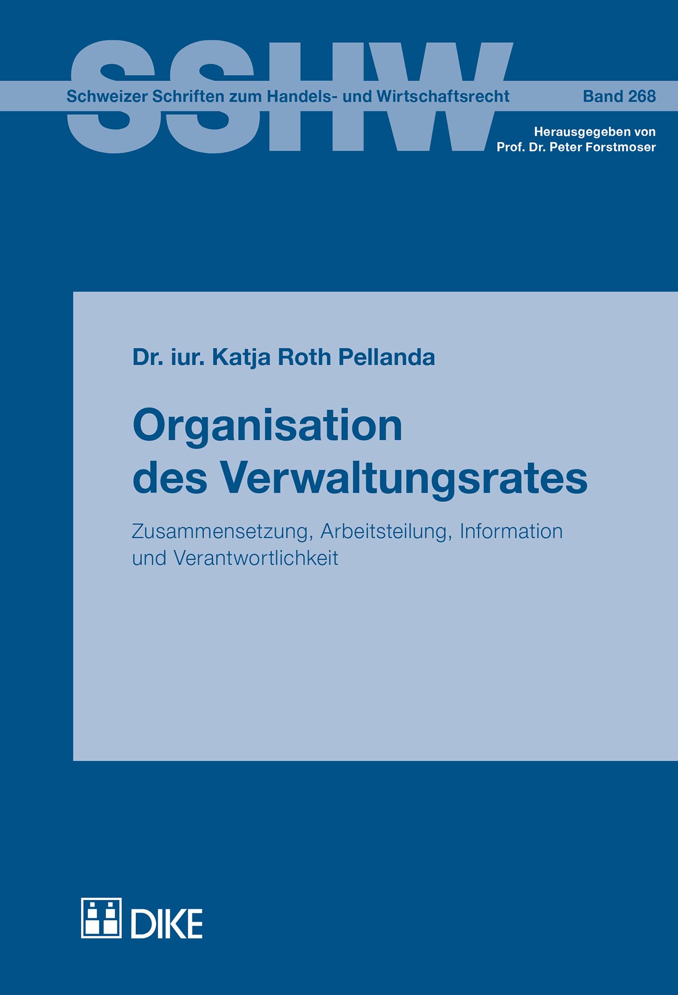 Organisation des Verwaltungsrates
