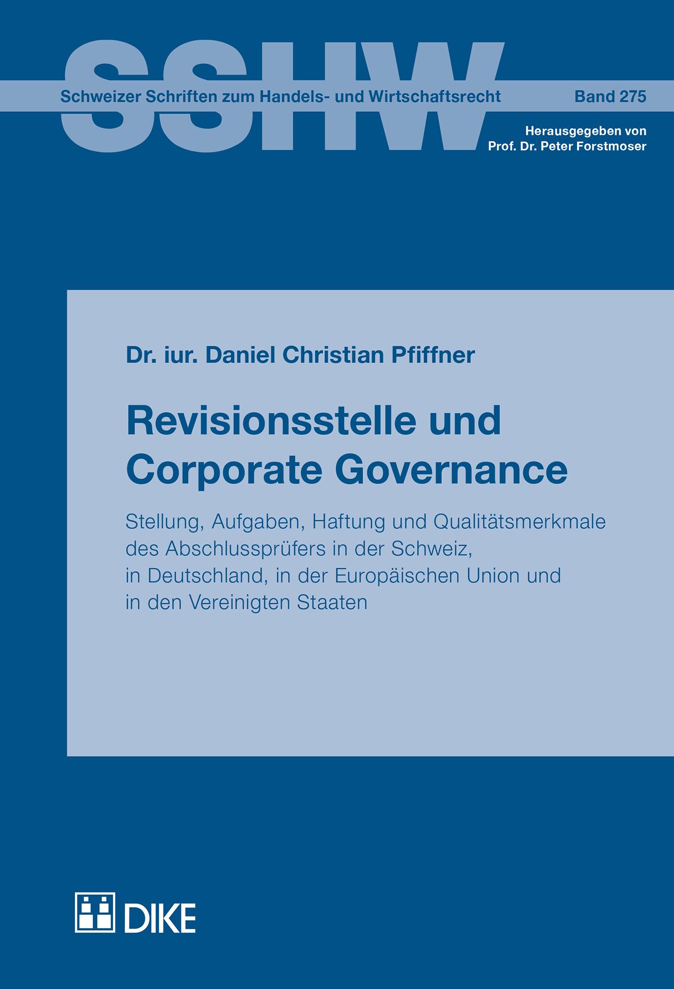 Revisionsstelle und Corporate Governance
