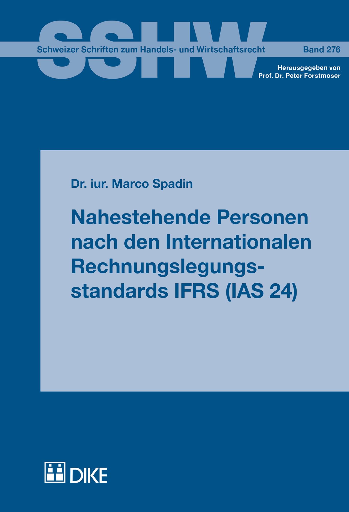 Nahestehende Personen nach den Internationalen Rechnungslegungsstandards IFRS (IAS 24)