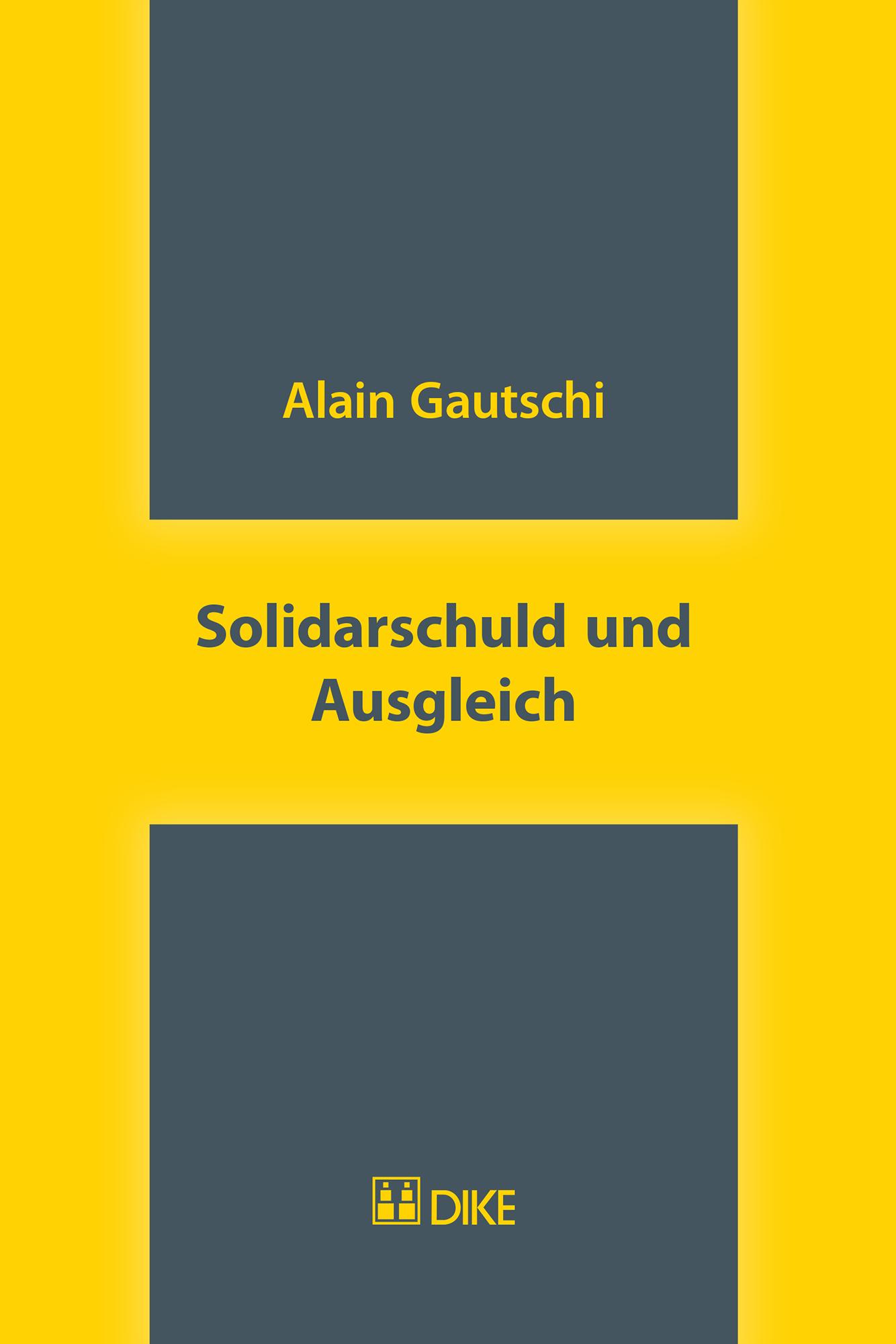 Solidarschuld und Ausgleich