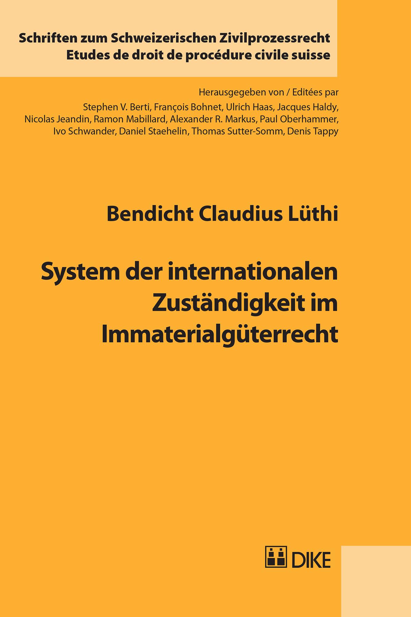 System der internationalen Zuständigkeit im Immaterialgüterrecht