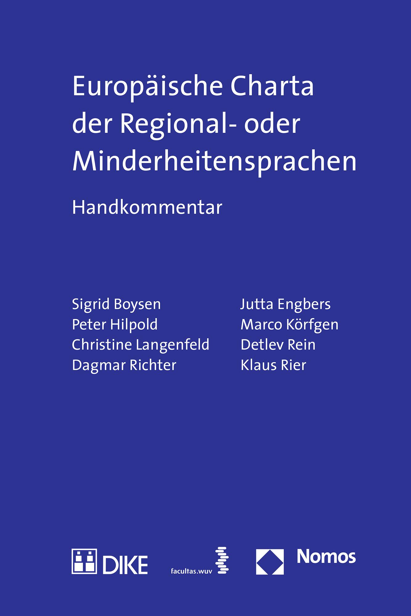 Europäische Charta der Regional- oder Minderheitensprachen