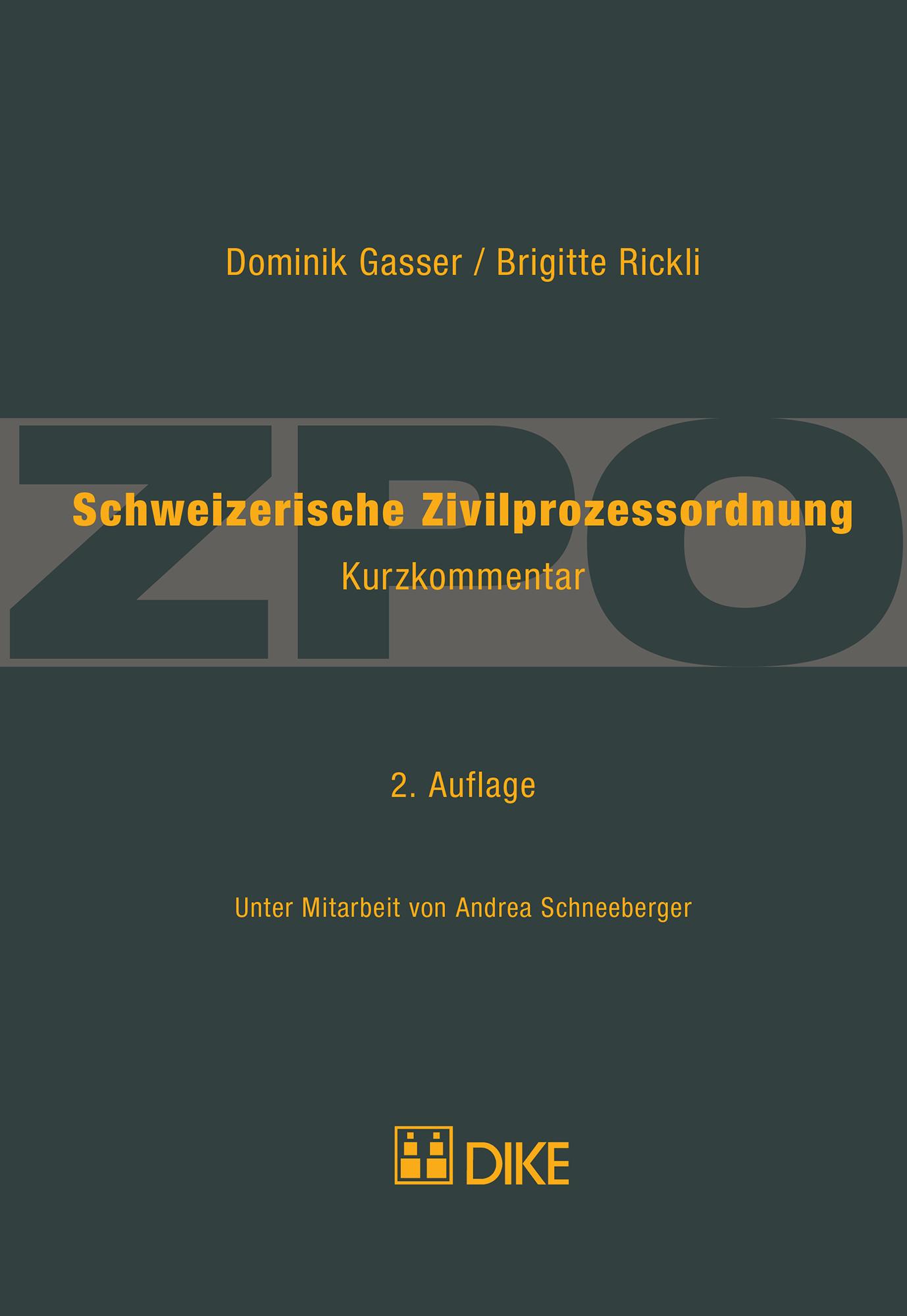 Schweizerische Zivilprozessordnung