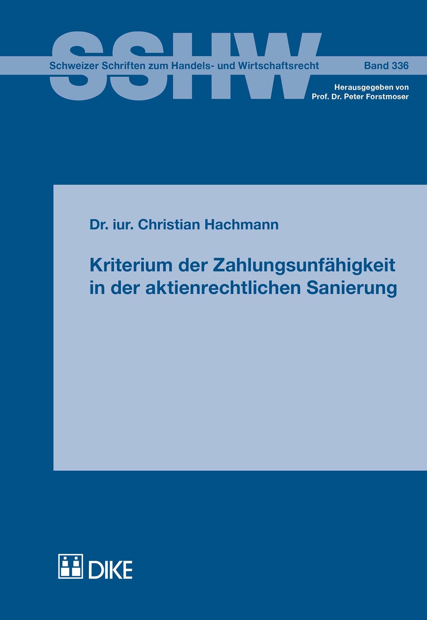 Kriterium der Zahlungsunfähigkeit in der aktienrechtlichen Sanierung
