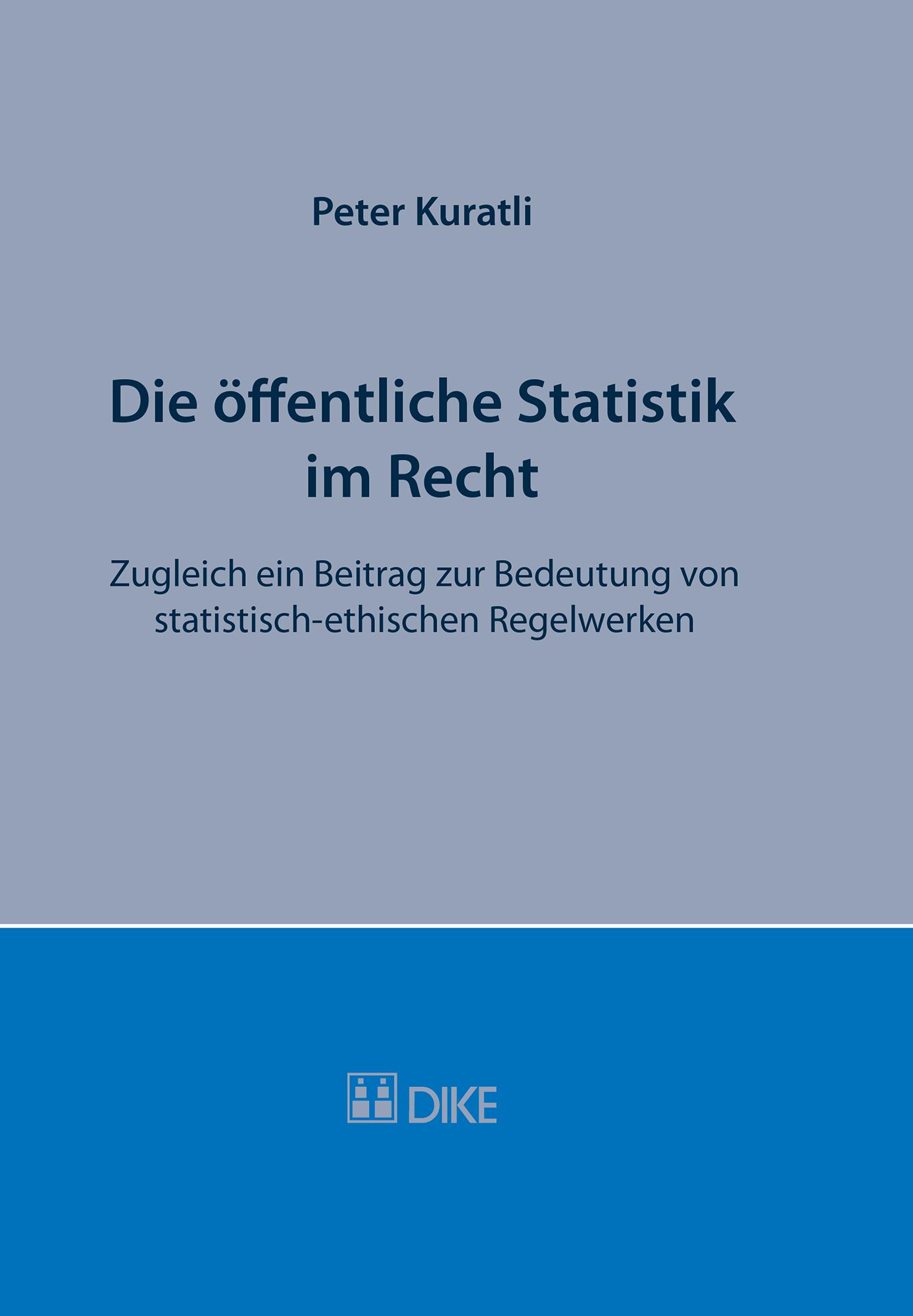 Die öffentliche Statistik im Recht