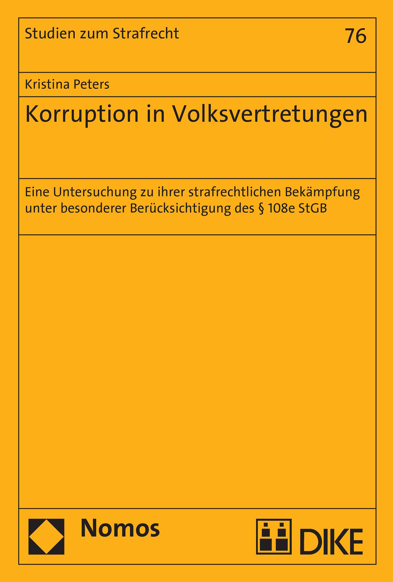 Korruption in Volksvertretungen