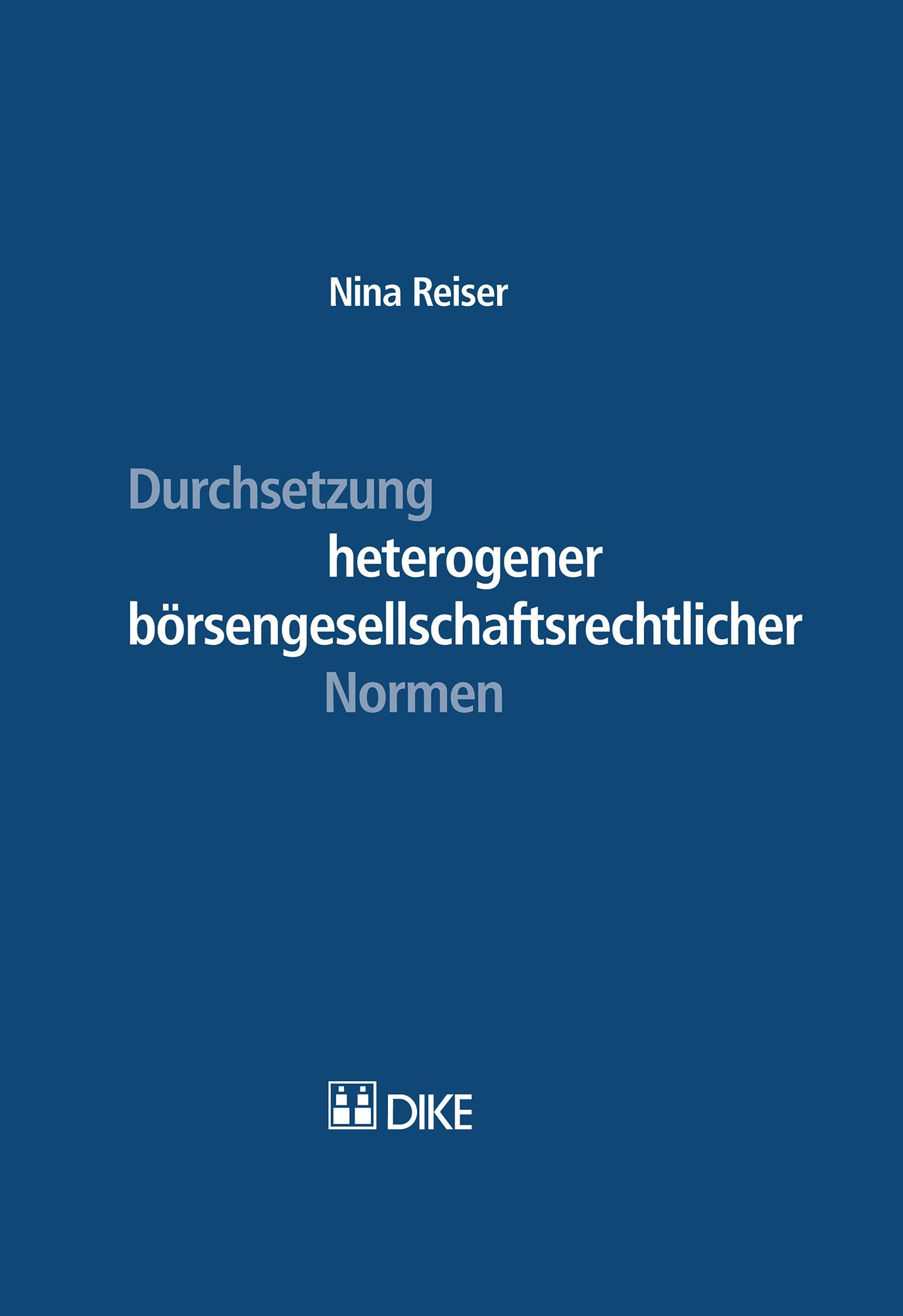 Durchsetzung heterogener börsengesellschaftsrechtlicher Normen