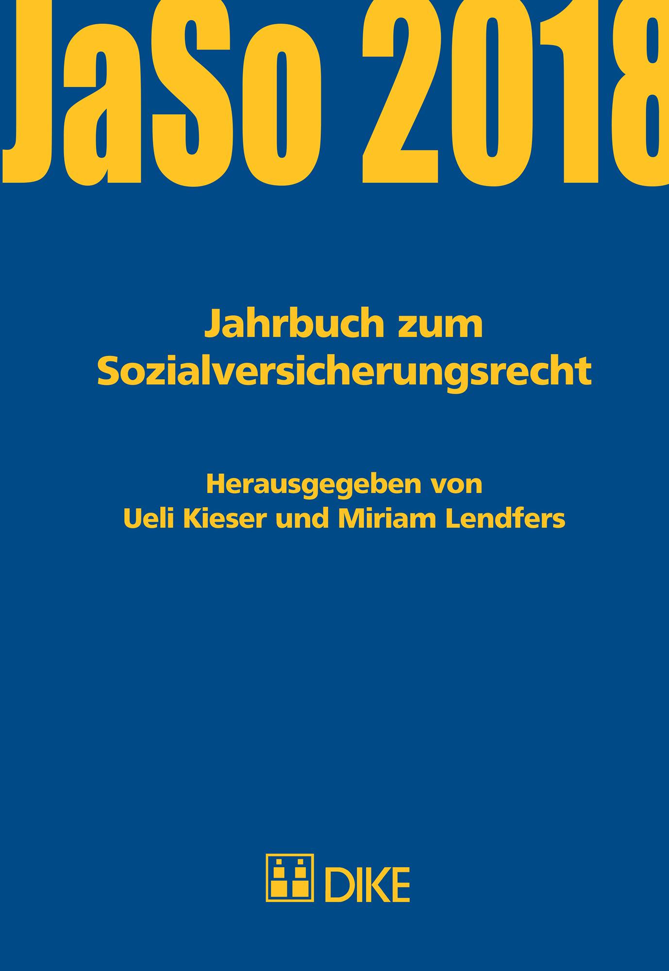 Jahrbuch zum Sozialversicherungsrecht 2018