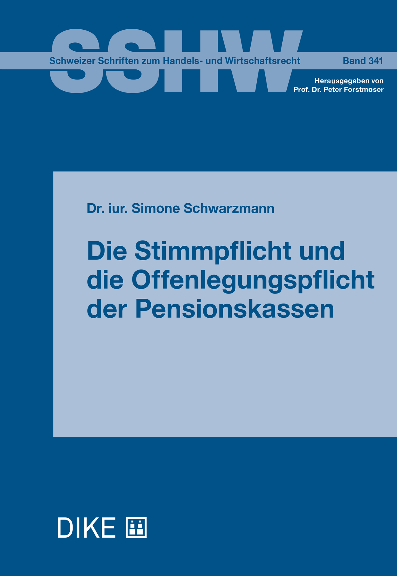 Die Stimmpflicht und die Offenlegungspflicht der Pensionskassen