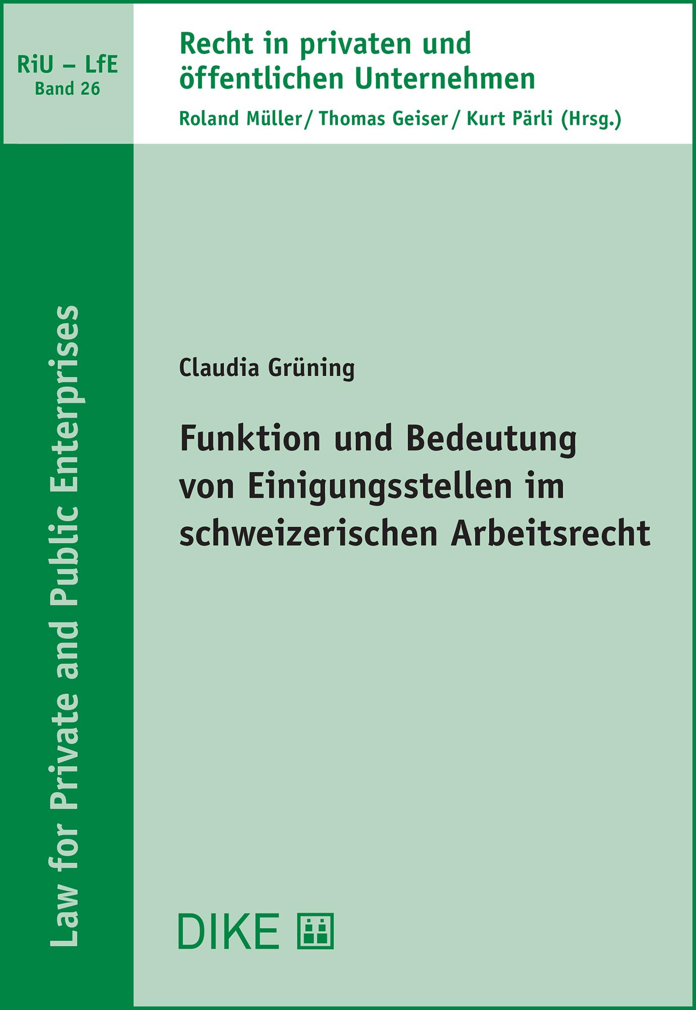 Funktion und Bedeutung von Einigungsstellen im schweizerischen Arbeitsrecht