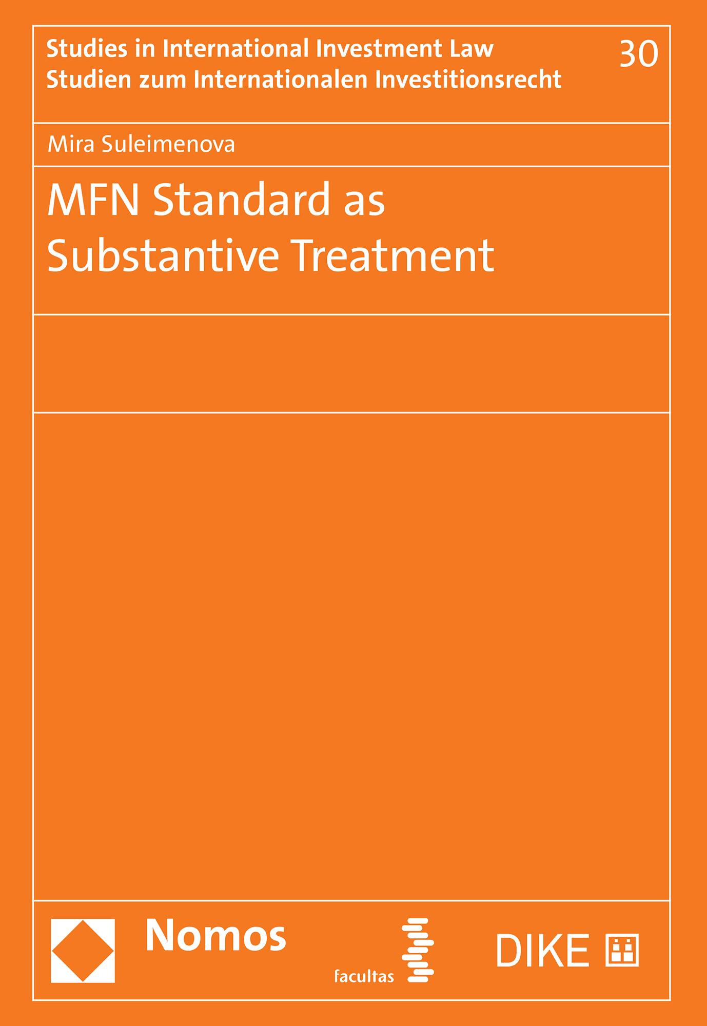 MFN Standard as Substantive Treatment