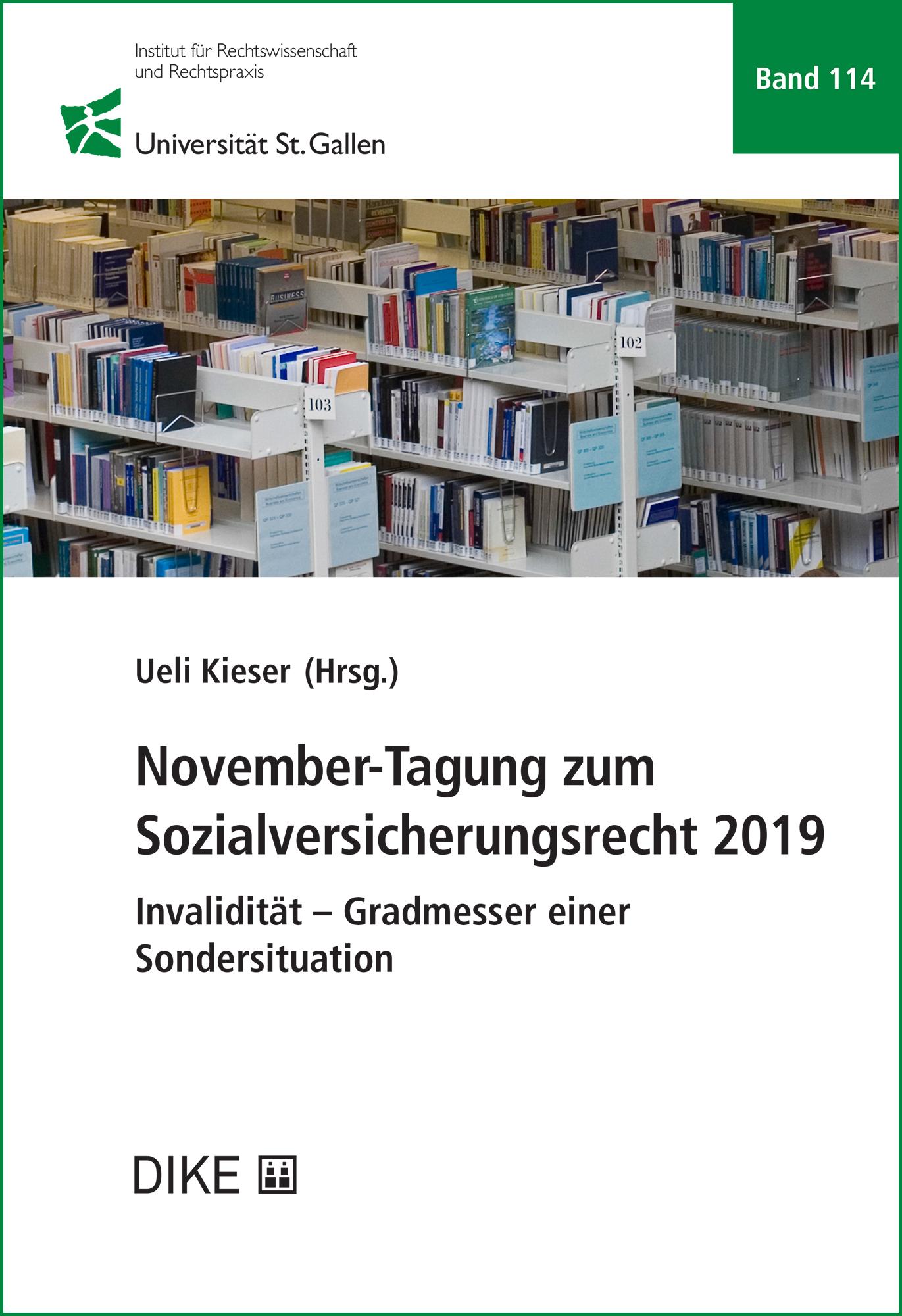 November-Tagung zum Sozialversicherungsrecht 2019
