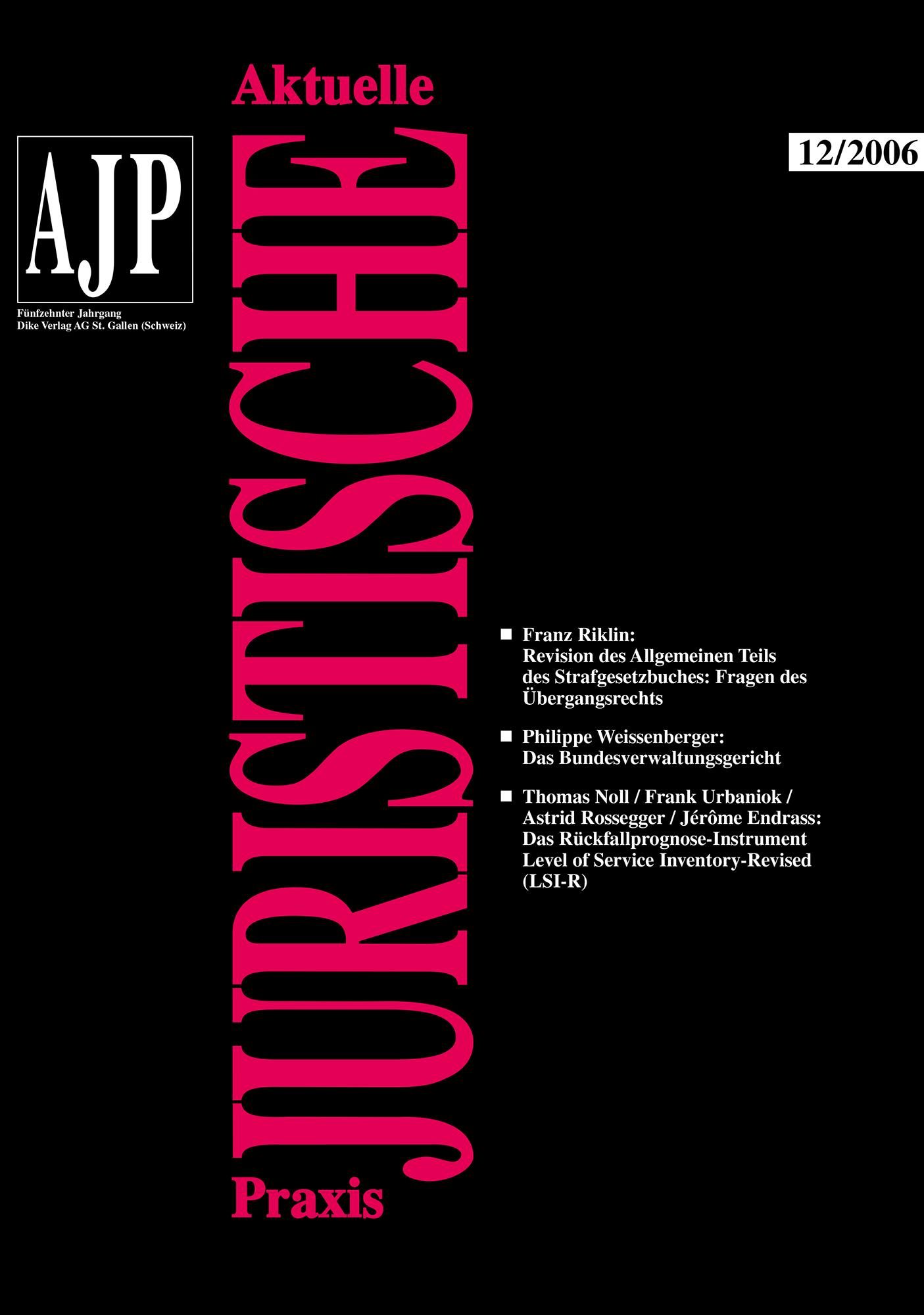 AJP/PJA 12/2006