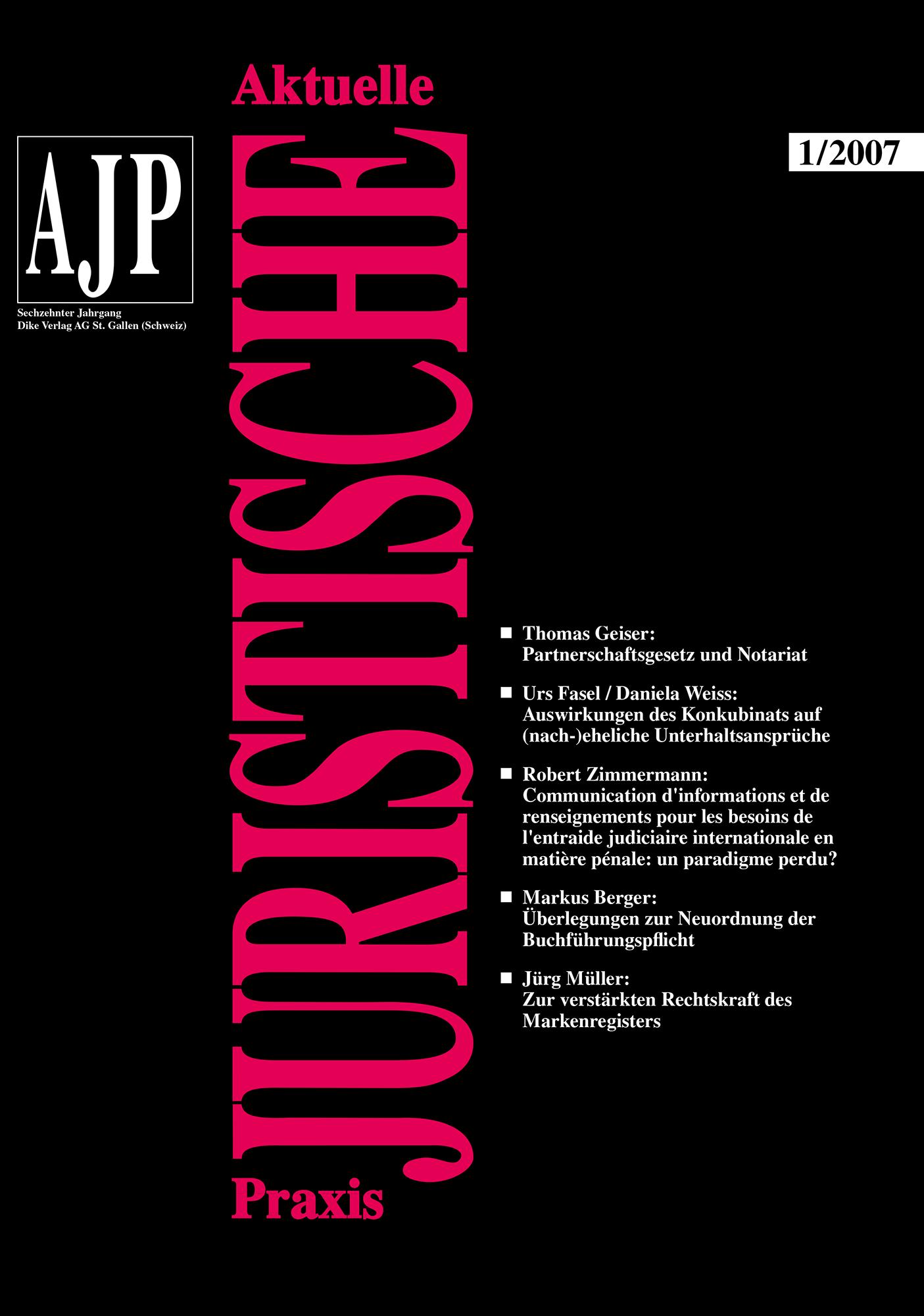 AJP/PJA 01/2007