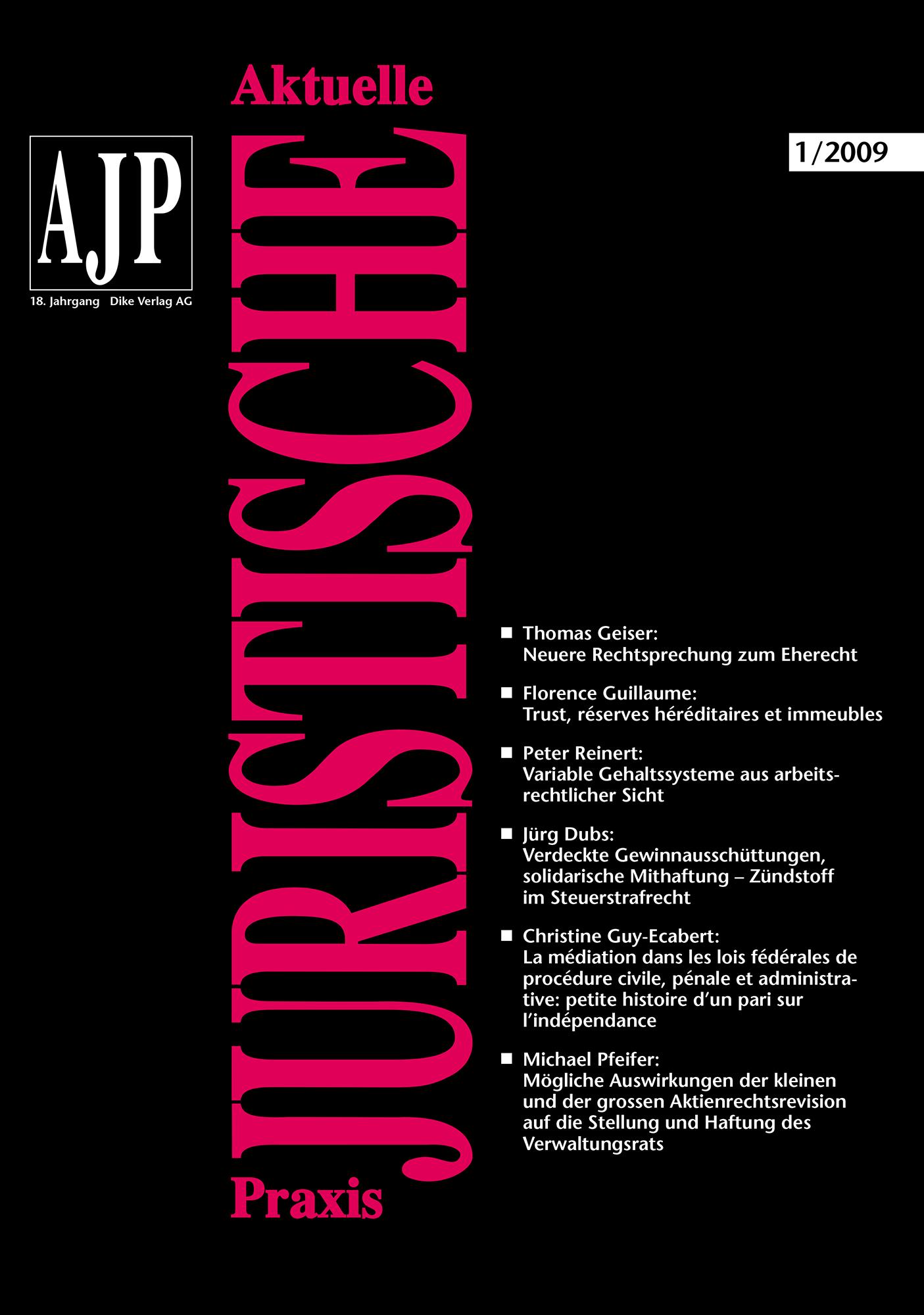 AJP/PJA 01/2009