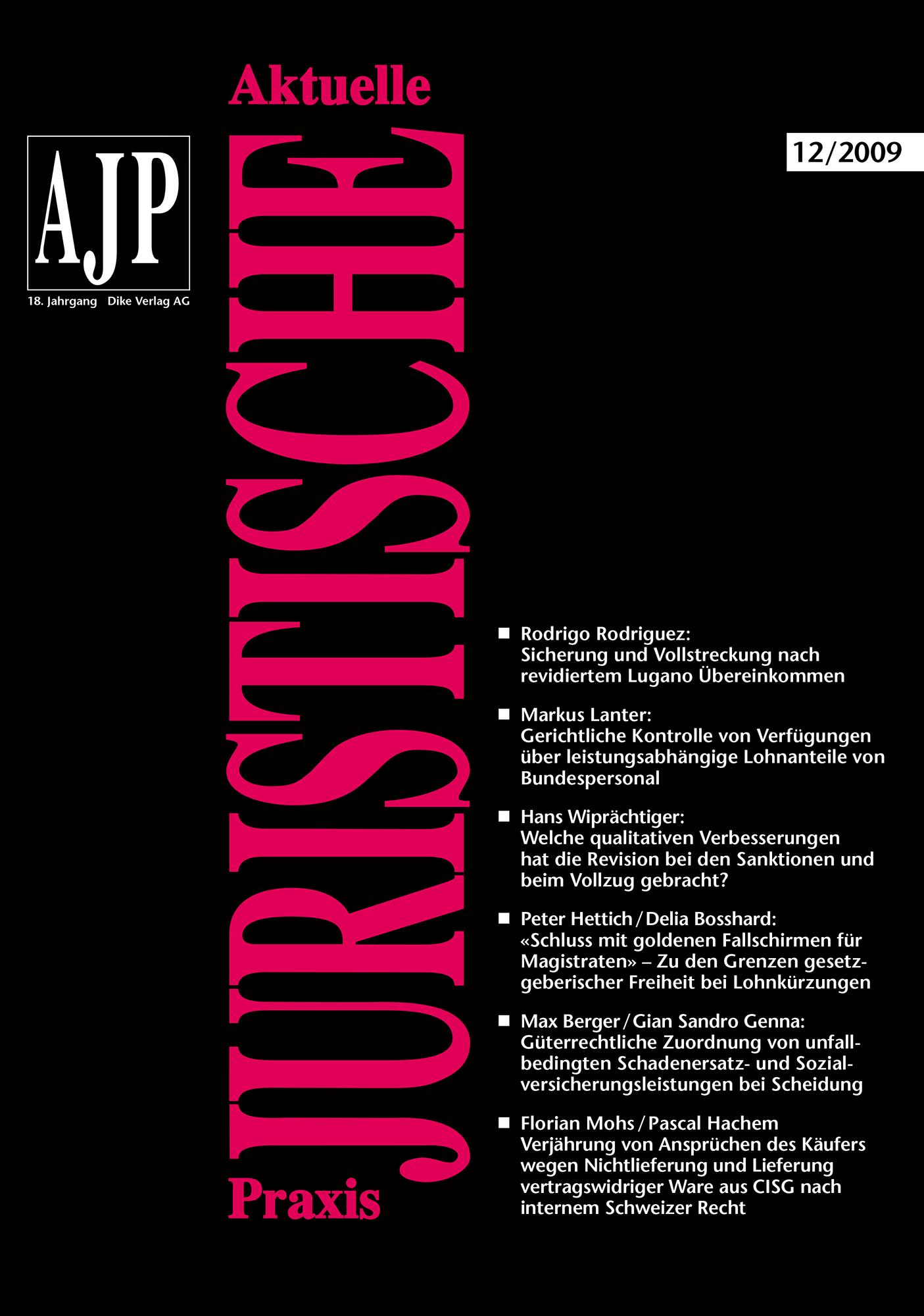 AJP/PJA 12/2009