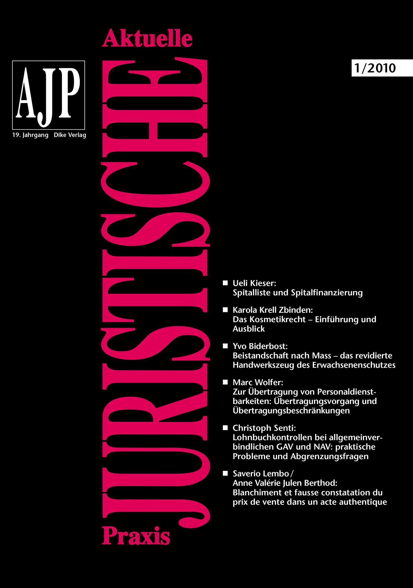 AJP/PJA 01/2010