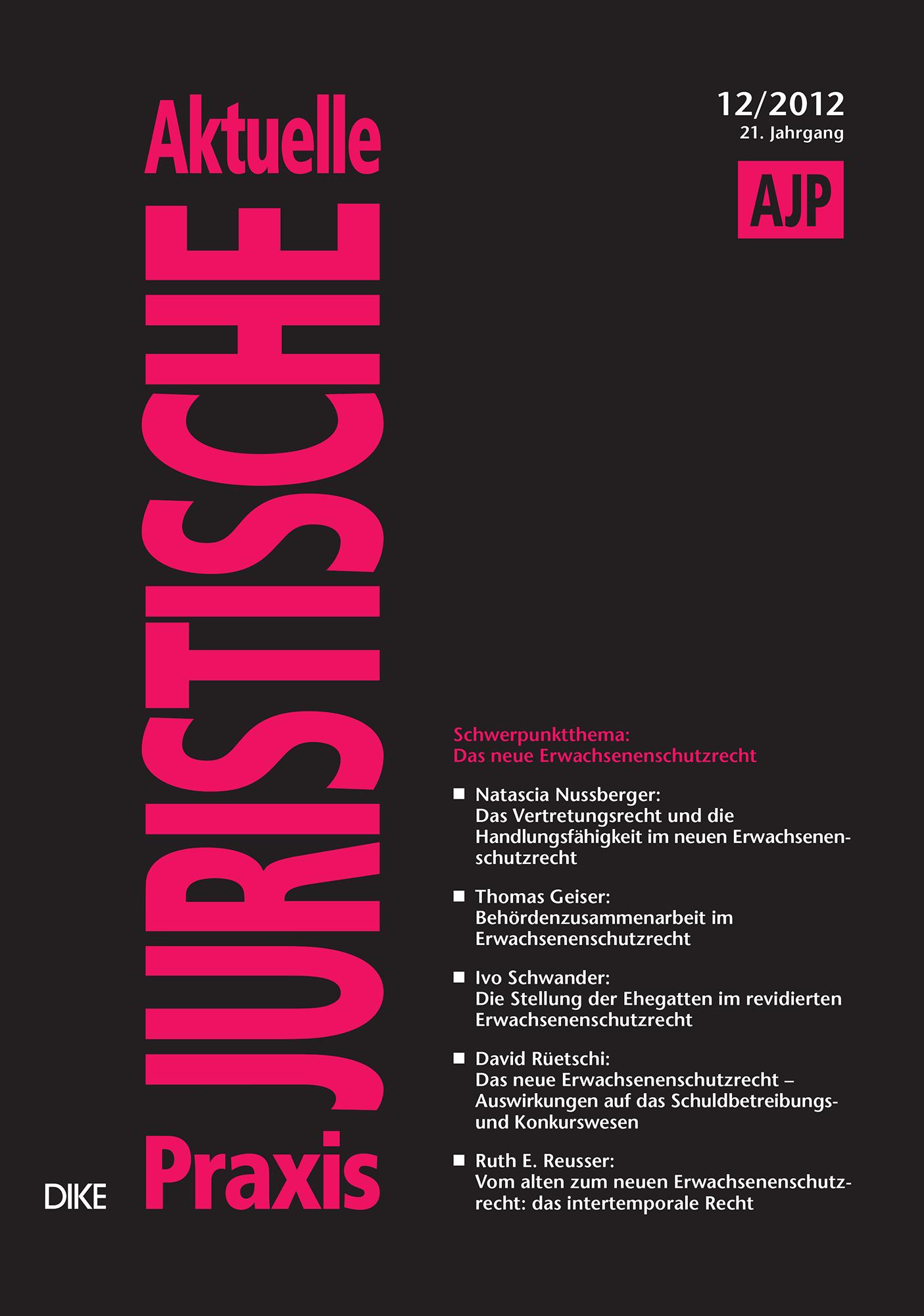 AJP/PJA 12/2012