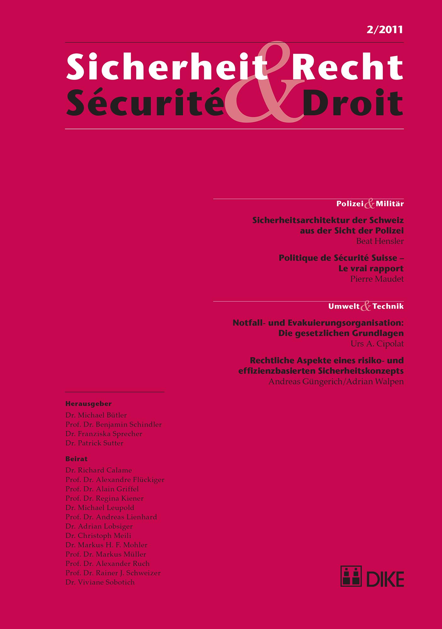 Sicherheit & Recht / Sécurité & Droit 02/2011