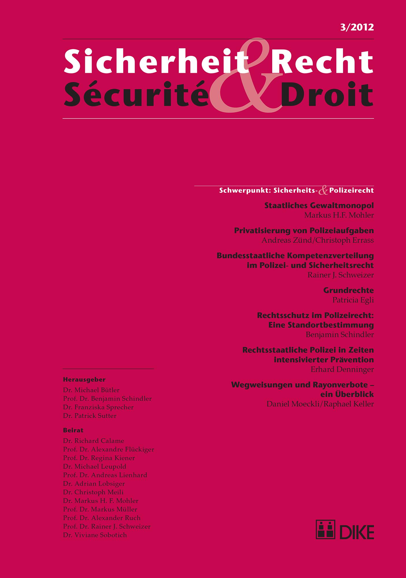 Sicherheit & Recht / Sécurité & Droit 03/2012