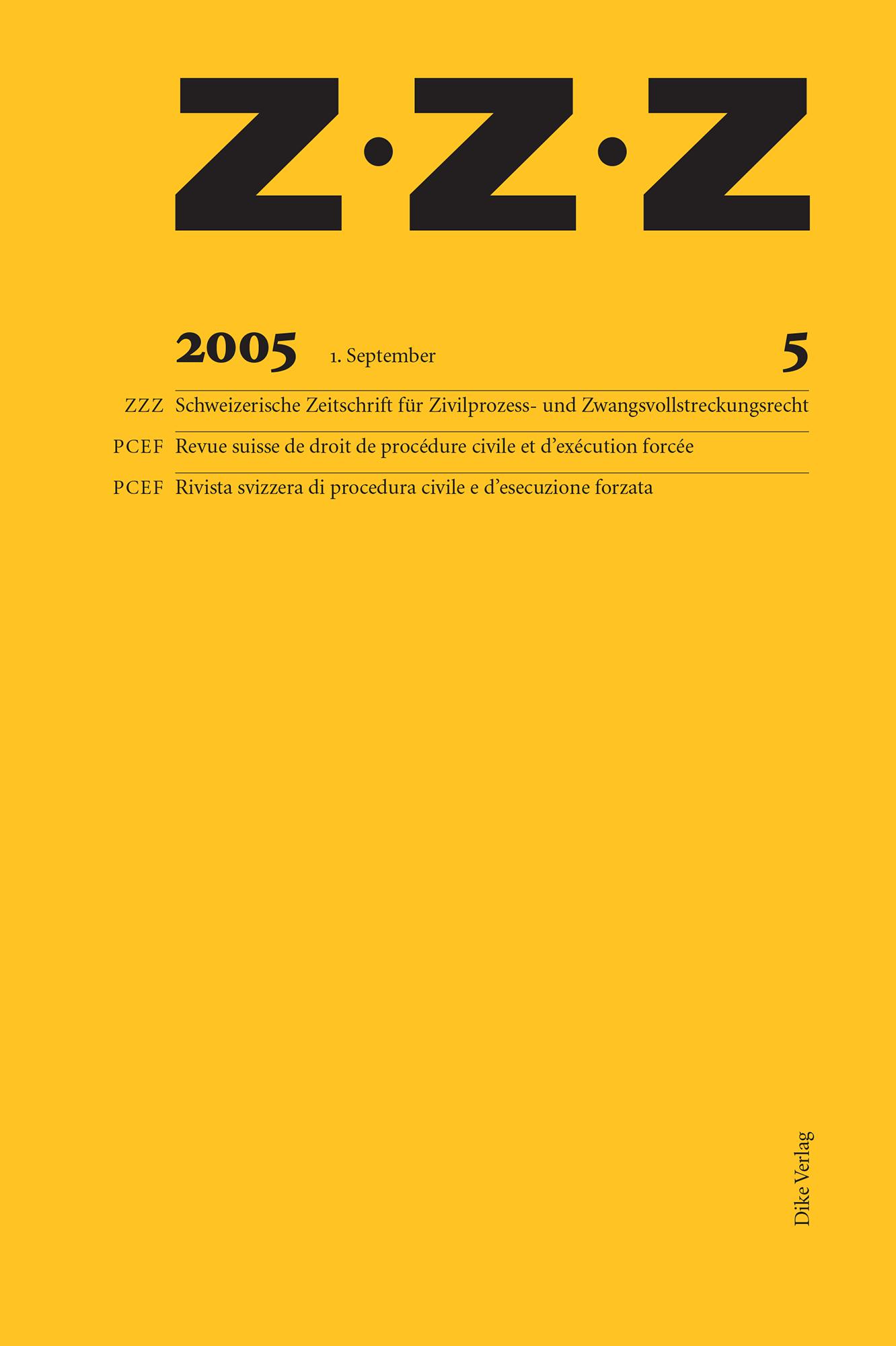 ZZZ 2005 Heft 5