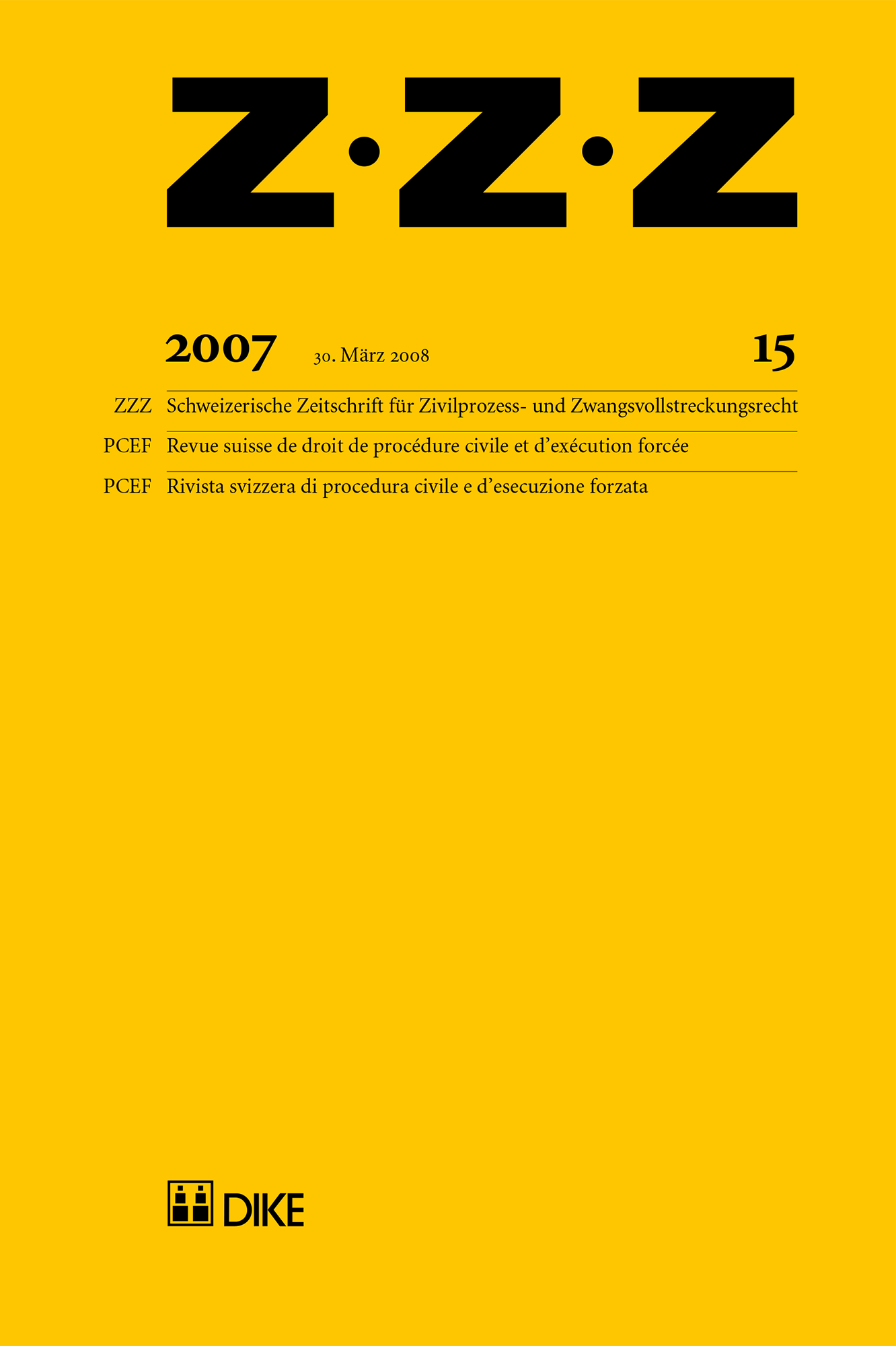 ZZZ 2007 Heft 15