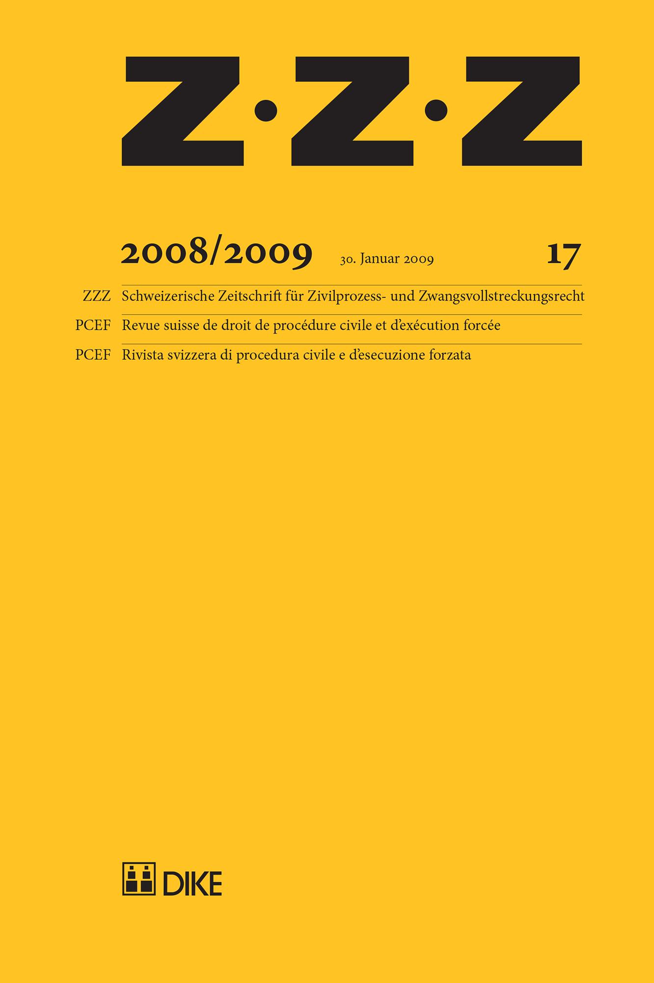 ZZZ 2008/2009 Heft 17