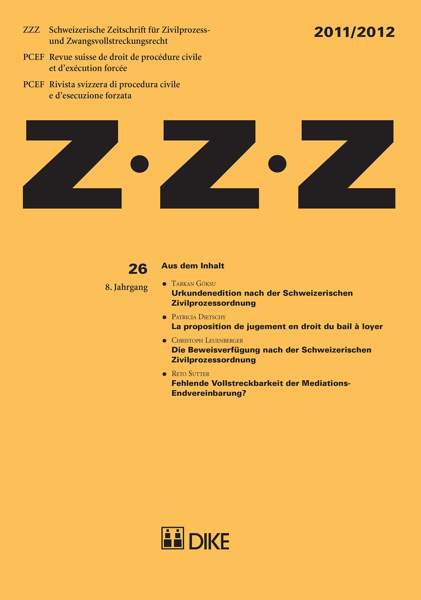 ZZZ 2011/2012 Heft 26