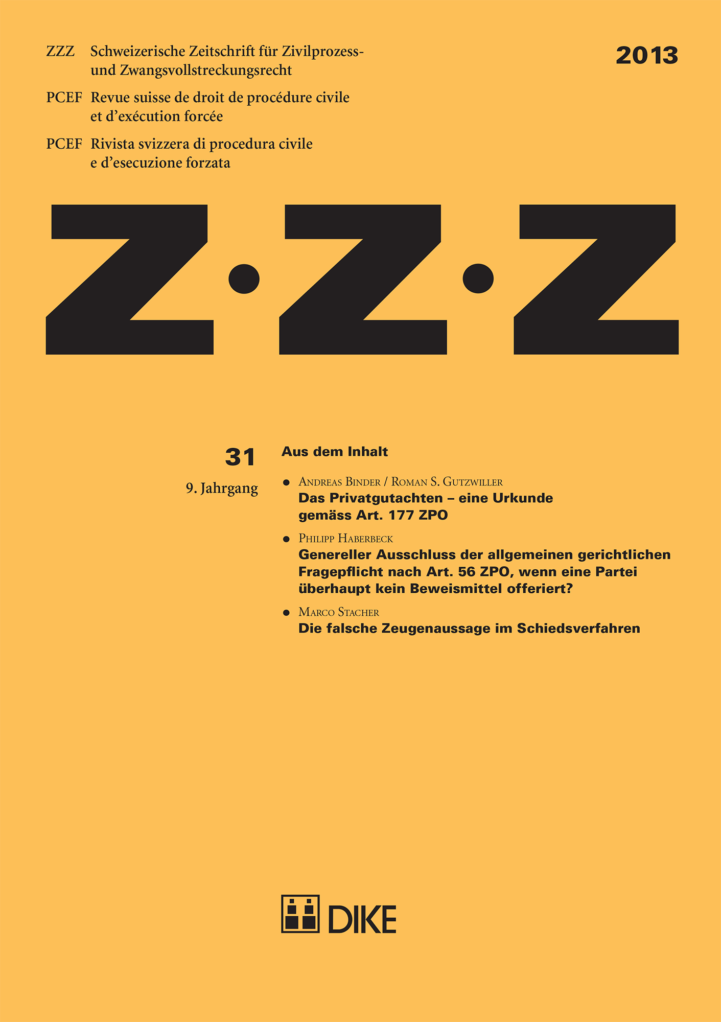 ZZZ 2013 Heft 31