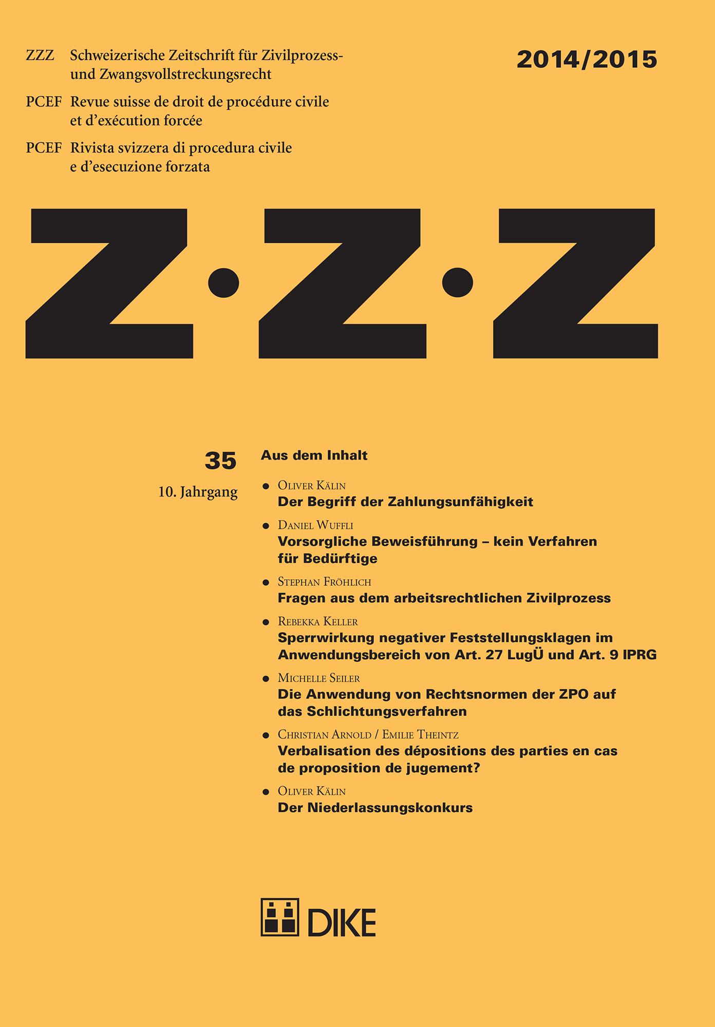 ZZZ 2014 / 2015 Heft 35