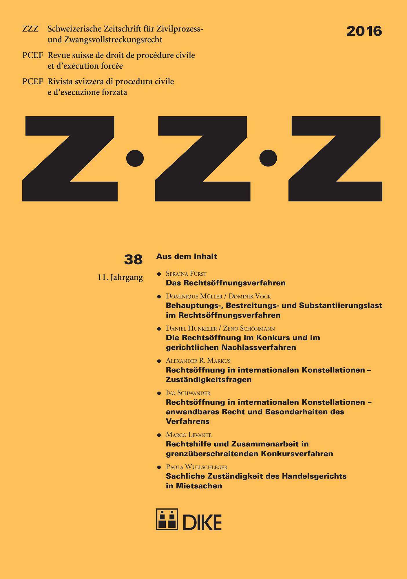 ZZZ 2016 Heft 38