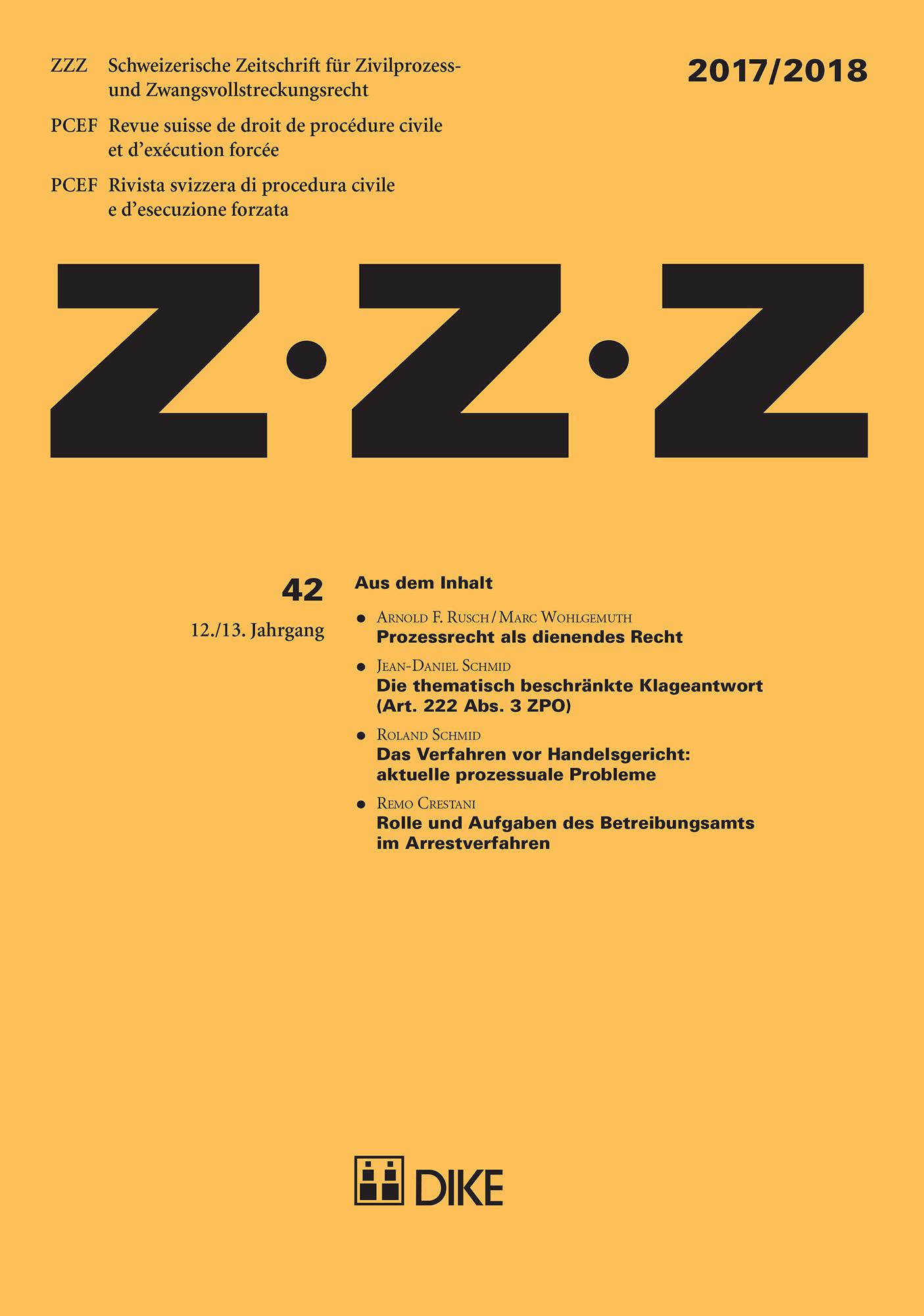 ZZZ 2017/2018 Heft 42