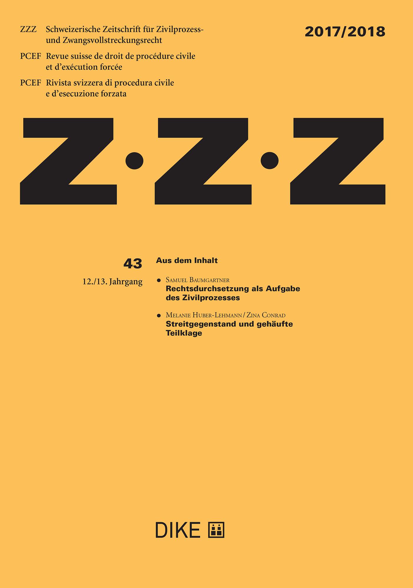 ZZZ 2017/2018 Heft 43
