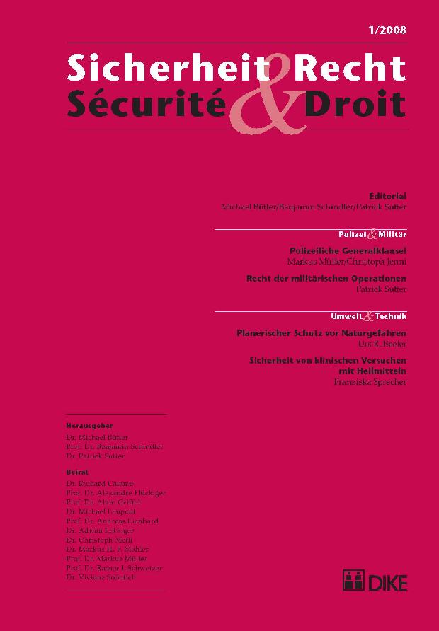 Sicherheit & Recht / Sécurité & Droit 01/2008