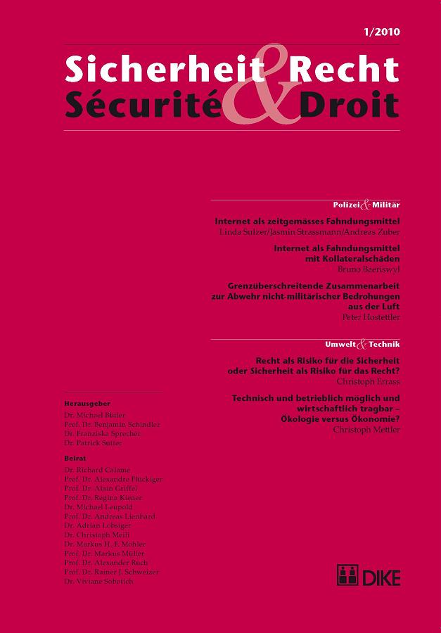 Sicherheit & Recht / Sécurité & Droit 01/2010