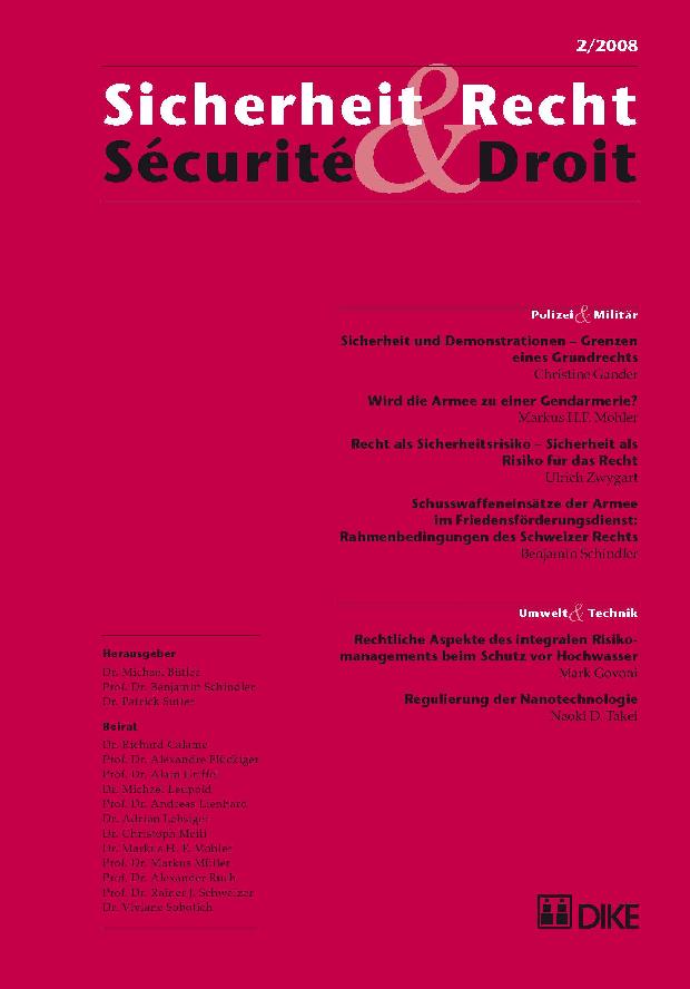 Sicherheit & Recht / Sécurité & Droit 02/2008