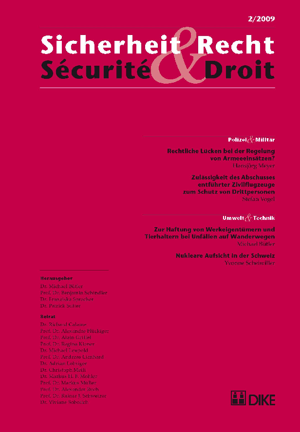 Sicherheit & Recht / Sécurité & Droit 02/2009