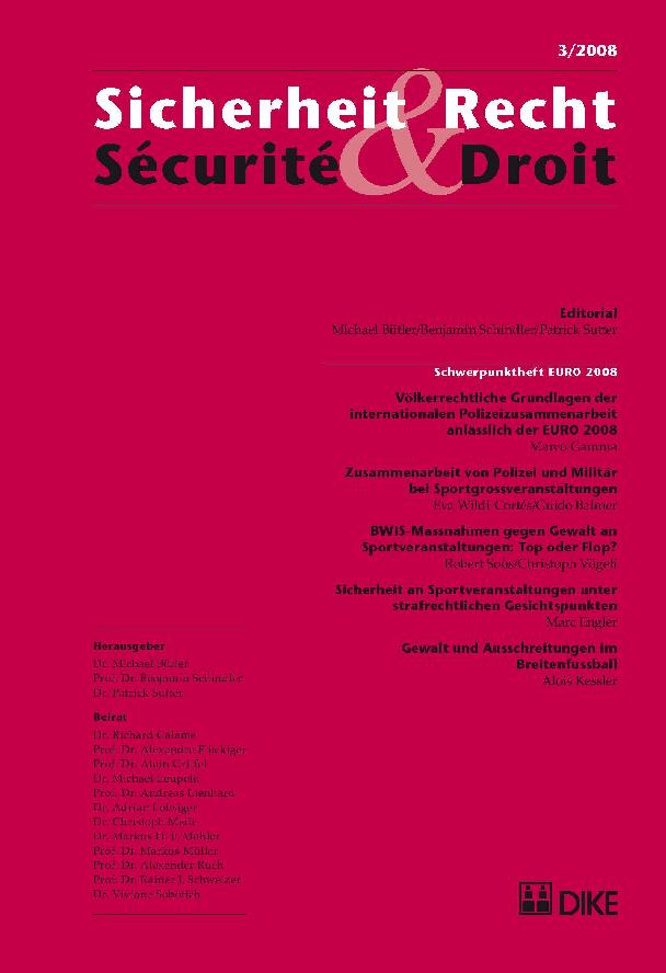 Sicherheit & Recht / Sécurité & Droit 03/2008