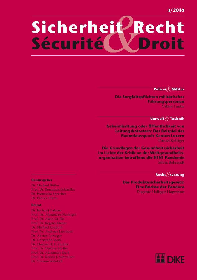Sicherheit & Recht / Sécurité & Droit 03/2010