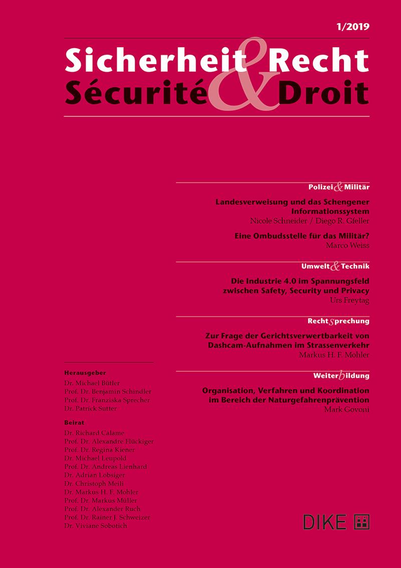 Sicherheit & Recht / Sécurité & Droit 1/2019