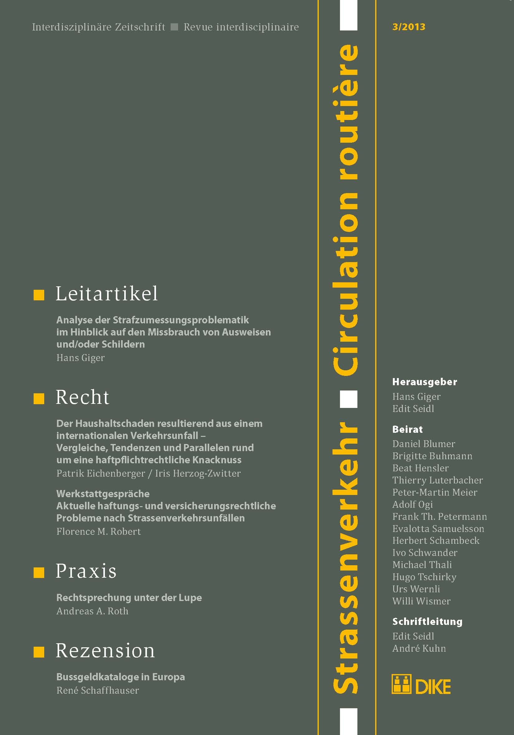 Strassenverkehr / Circulation routière 3/2013