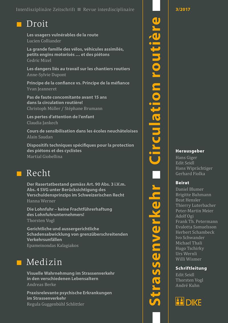 Strassenverkehr / Circulation routière 3/2017