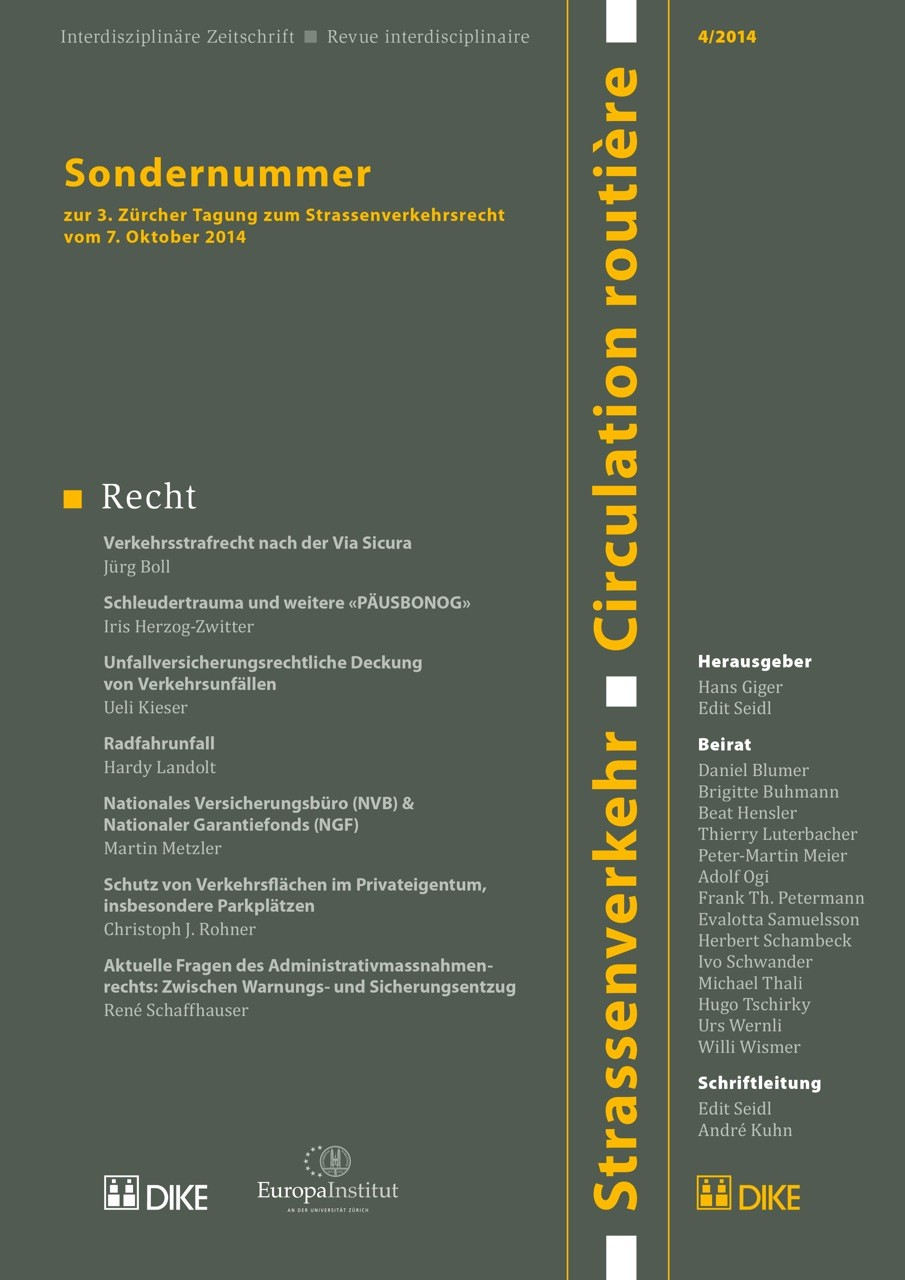 Strassenverkehr / Circulation routière 4/2014