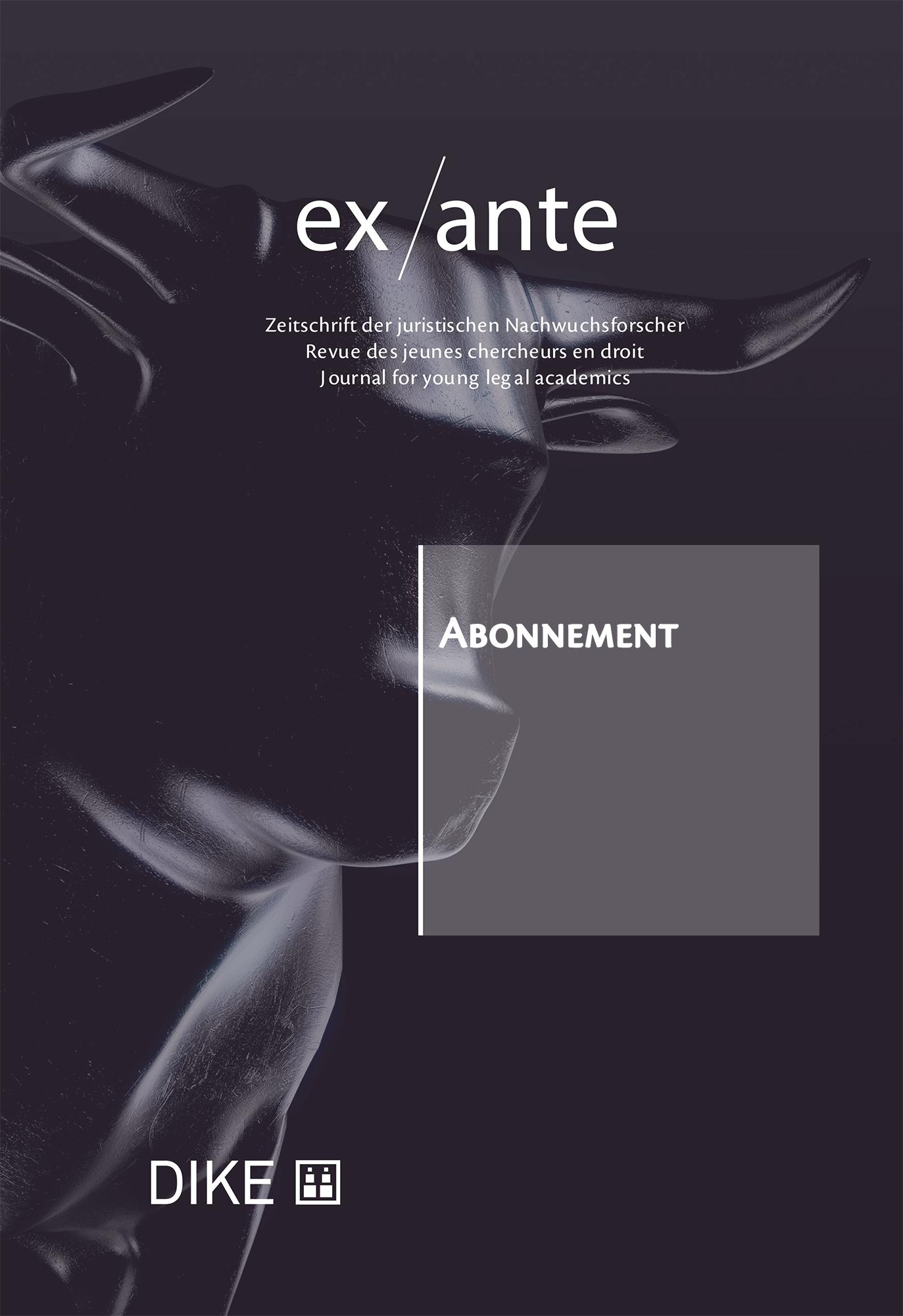 ex/ante abonnement für Studierende