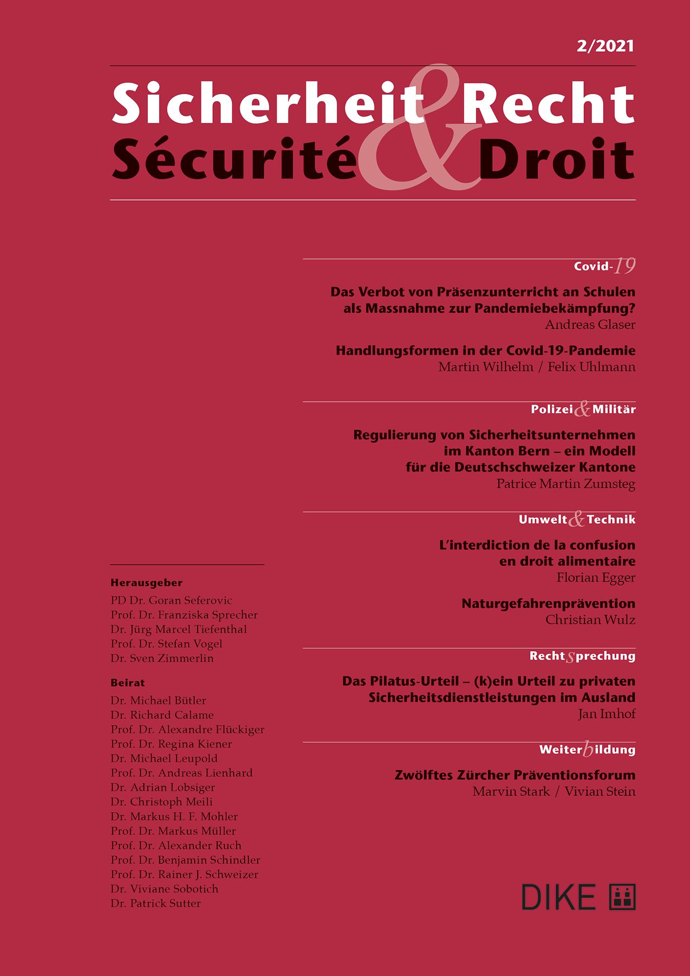 Sicherheit & Recht / Sécurité & Droit 02/2021
