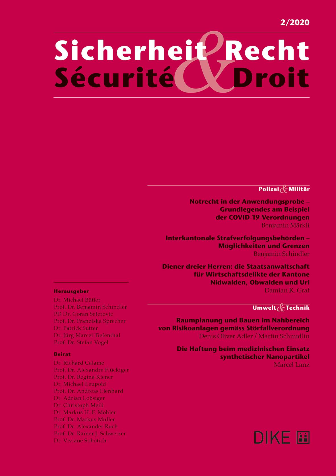 Sicherheit & Recht / Sécurité & Droit 2/2020