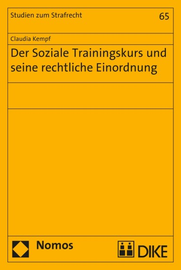 Der Soziale Trainingskurs und seine rechtliche Einordnung