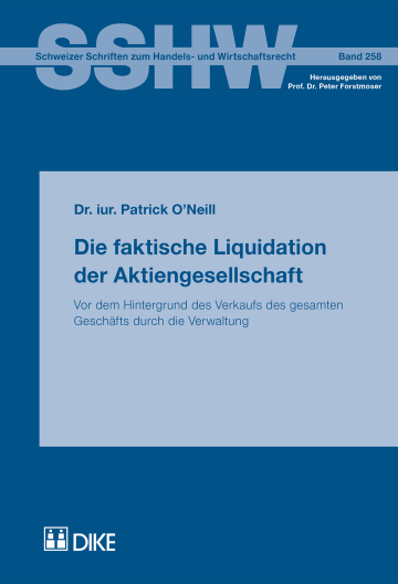 Die faktische Liquidation der Aktiengesellschaft