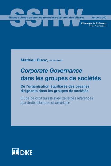 Corporate Governance dans les groupes de sociétés