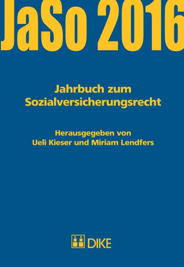 Jahrbuch zum Sozialversicherungsrecht 2016